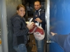 Volunteers getting turkeys for distribution